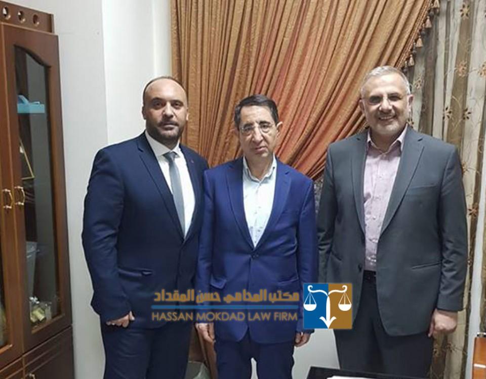 معالي الوزير د. حسين الحاج حسن وسعادة النائب د. علي المقداد